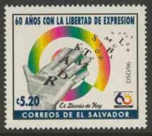 """El Salvador 1996 Mi 2033 ** Printed Hand + Releasing Letters - 60th Ann. Newspaper """"El Diario De Hoy"""" / Zeitung / Krant - Andere"""