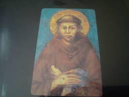 SANTINO - IMMAGINETTA - PREGHIERA - SAN FRANCESCO - BENEDIZIONE A FRATE LEONE - Devotion Images