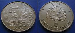 CUBA  1 Peso 1989 - SAILBOAT DISCOVERY OF AMERICA - Cuba
