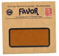 Enveloppe Favor Cycles Clermont-Ferrand - Vieux Papiers