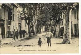 Carte Postale Ancienne Les Vignères - Rue Générale Côté De L'Eglise - Frankreich