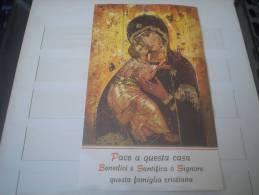SANTINO - IMMAGINETTA - PREGHIERA - BENEDIZIONE DELLE FAMIGLIE IN OCCASIONE DEL SANTO NATALE - Devotion Images