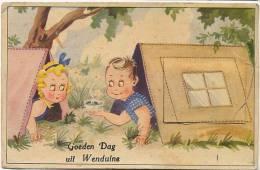 Goeden Dag Uit Wenduine Carte Systeme Depliant 9 Vues Moulin A Vent, Tente, Camping - Wenduine