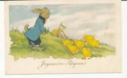 Joyeuses Pâques. Lapin Et Poussins - Pâques