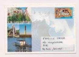ENVELOPPE,CHARENTE-MARITIME , La Palmyre , Recto-verso - Marcophilie (Lettres)