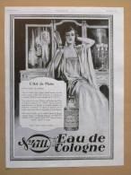 Pub Papier 1928 Parfum Eau De Cologne N 4711 Parfumeur Parfums Dessin Beauté Femme - Advertising