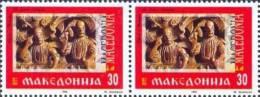 MK 1992-01 1st INDEPENDENT DAY, MAKEDONIA, 2 X 1v, MNH - Macedonië