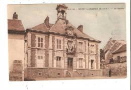 Carte Sépia  De 1948  N°13.5.36.  BOISSY.L'AILLERIE  (S.et.O.) .La Mairie, Animée - Boissy-l'Aillerie