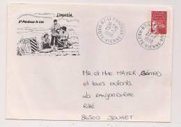 ### Enveloppe , SAINT PARDOUX LE LAC , LIMOUSIN - Marcophilie (Lettres)