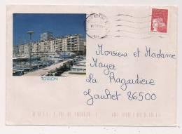 ENVELOPPE , TOULON , Recto-verso - Marcophilie (Lettres)