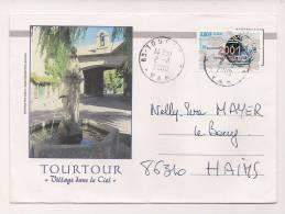 ENVELOPPE , TOURTOUR , Village Dans Le Ciel , Recto-verso - Marcophilie (Lettres)