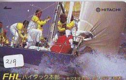 Télécarte Japon * BATEAU VOILIER * Sailing SHIP (219) Phonecard Japan * SCHIFF * Segelschiff * Zeilboot * YACHT * - Boten