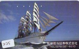 Télécarte Japon * BATEAU VOILIER * Sailing SHIP (225) Phonecard Japan * SCHIFF * Segelschiff * Zeilboot * YACHT * - Boten