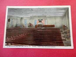 Interior Illinois State Penitentary Joliet Il  Chapel   Band Area  Vintage Wb- Ref 623 - Prison