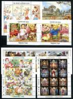 0489 - GB-GUERNSEY - Block 9-10 U.Kleinbogen 578-89,590-97,622-33,650-61 ** - Mnh Mini Sheets & Collective Sheets - Guernsey
