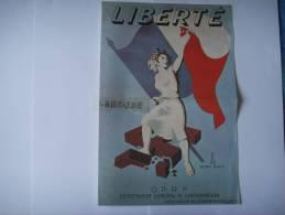 119 )REPRO :1 Ere  Affiche G P R F :liberte :aout 1944 : Symbole De La Resistance Victorieuse - Documents