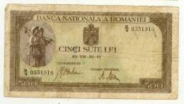 ROUMANIE : 500 Lei 1941 - Romania
