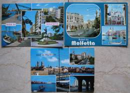 LOTTO 3 CARTOLINE FORMATO GRANDE SALUTI DA MOLFETTA - Molfetta