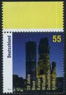 !a! GERMANY 2011 Mi. 2898 MNH SINGLE W/ Top Margin -Inauguration Of New Kaiser Wilhelm Memorial Church - Ungebraucht