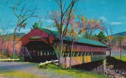 New Hampshire New London The Jackson Covered Bridge Crosses The