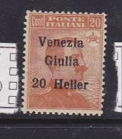 ITALIE VENETIE N° 31 20H S 20C ORANGE - 7. Trieste