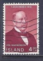 Iceland, Scott # 402 Used P.M. Magnusson, 1968 - Gebraucht