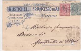 CARD CUNEO PUBBLICITARIA  RUSTICHELLI FRANCESCO FU ANGELO  OLII SALUMI (FORO D'ARCHIVIO)     -FP-V  -2-   0882-14117-118 - Cuneo