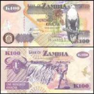Zambia #new 100, 100 Kwacha, 2006, UNC - Sambia