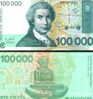 Croatia #27a, 100.000 Dinara, 1993, UNC - Kroatien