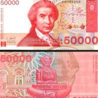 Croatia #26a, 50.000 Dinara, 1993, UNC - Kroatien