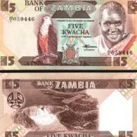 Zambia #25d, 5 Kwacha, ND (1980-88), UNC / NEUF - Sambia