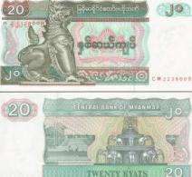 Myanmar #72, 20 Kyats, ND (1994), UNC / NEUF - Myanmar