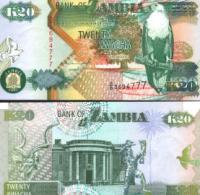 Zambia #36a, 20 Kwacha, 1992, UNC / NEUF - Sambia