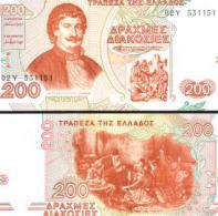 Greece #204, 200 Drachmai, 1996, UNC / NEUF - Griechenland