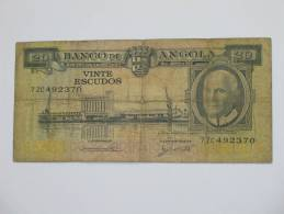 20 Vinte Escudos  1962 -ANGOLA - Banco De Angola - Angola