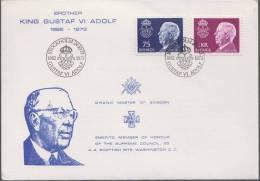King Gustaf Vi Adolf, Grand Master Of Sweden, Member Of The Supreme Council Scottish Rite  Freemasonry Masonic Cover - Franc-Maçonnerie