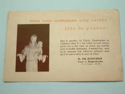 Nous Vous Souhaitons Une Sainte Fête De PÄQUES ( Balgerhoeke ) Anno 1950 ( Zie Foto Voor Details ) !! - Eeklo