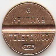 TOKEN;JETON;GETTONE TELEFONICO-7705-FLAT EDGE,NICE GRADE - Other