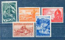 Bulgarien  Geschichte   Mi. 432 - 436  */Falz   Selten So Komplett       Siehe Bild - 1909-45 Kingdom