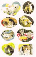 [Y] Vignettes Autocollantes Chats Self-adhesive Labels Cats - Stickers