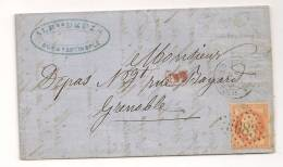 Lettre - BFE TURQUIE - CONSTANTINOPLE - GC.5083/TP N°31 + Càd - 1869 - Ohne Zuordnung