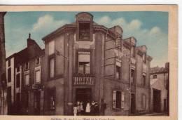 """Jallais..animée..Hôtel De La Croix Verte..Hôtel """"Rambault""""..tabac - Unclassified"""
