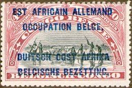 Belgium - Occupation Of German East Africa,Ruanda-Urundi,40c.,Y&T#32,MLH  *,error Overprint,as Scan - 1916-22: Ungebraucht