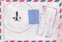 [Z2] Lettre Belgique Belgium échecs Dans L'adresse De L'expéditeur  Chess In The Sender's Address Label - Universal Expositions