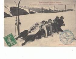31 SUPERBAGNERES ( LUCHON ) SPORTS D´ HIVER NEIGE SKI LUGE Descente Animée En BOBSLEIGH - Sport Invernali
