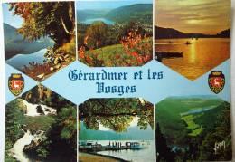 LES VOSGES GERARMER MULTIVUES COULEURS ET LUMIERES DE FRANCE - EDITIONS ART YVON - CP ECRITE NON TIMBREE - Gerardmer