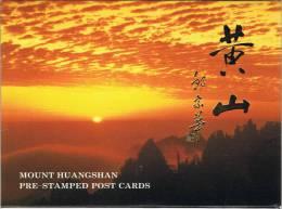 L-CH5 - CHINE Etui Avec 10 Cartes Entiers Postaux Pour La Poste Aérienne LES MONTAGNES DU HUANGSHAN - Postcards