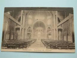 COMINES - Intérieur De L' Eglise / Anno 19?? ( Zie Foto Voor Details ) !! - Eglises Et Couvents