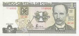 CUBA 1 PESO 2002 PICK 121a UNC - Cuba