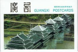L-CH6 - CHINE Etui Avec 10 Cartes Entiers Postaux Pour La Poste Aérienne Paysages Du GUANGXI - 1949 - ... République Populaire